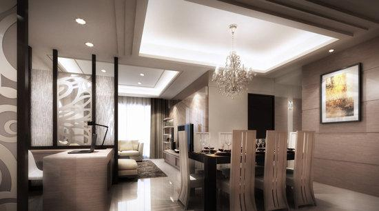 敞阔雅致现代风开放式家居装修效果图