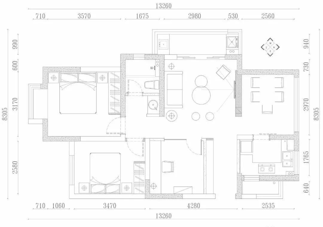 106平的北欧风三房装修效果图 儿童房装修效果图