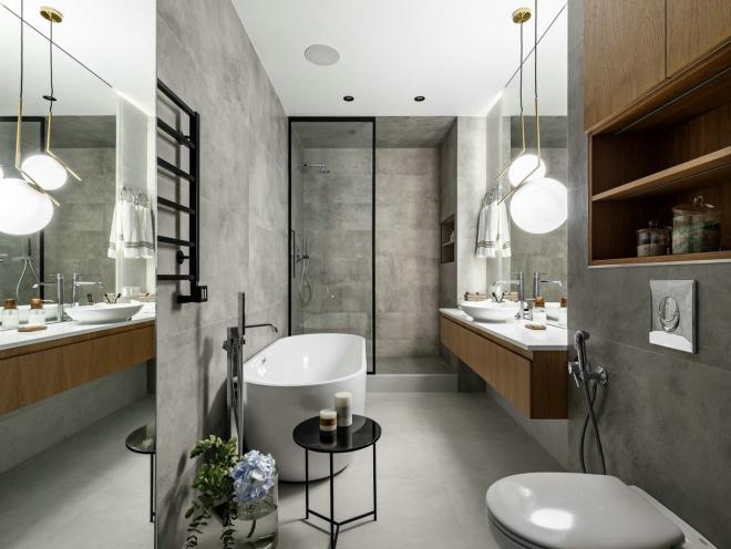 两居室简约北欧白色灰色厨房整屋装修效果图