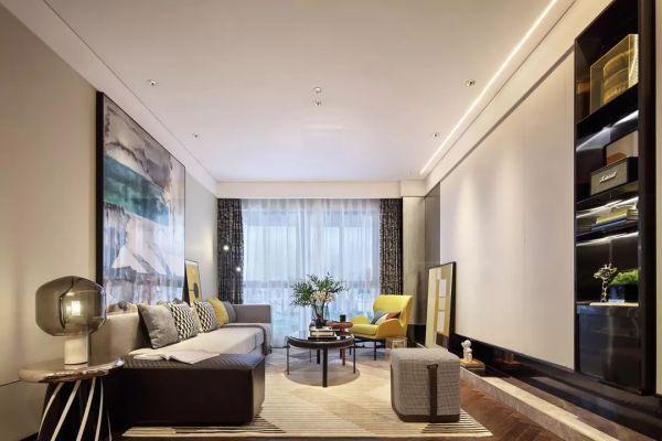 108平现代混搭公寓 软装饰品效果图