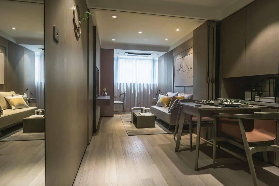 64平的小户型公寓效果图 理工男家居设计图