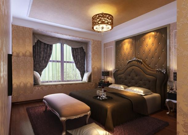 惬意和浪漫的欧式风格3居装修效果图