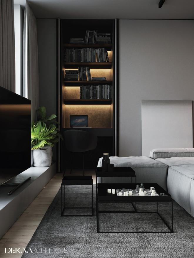 高级灰中性色调公寓装修效果图