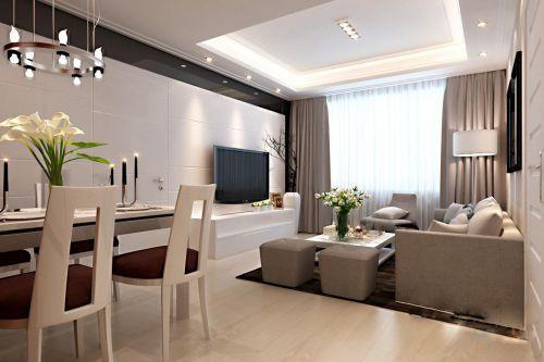 现代简约北欧客厅装修效果图