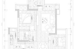 70㎡紧凑小三房装修效果图 小户型家居设计图