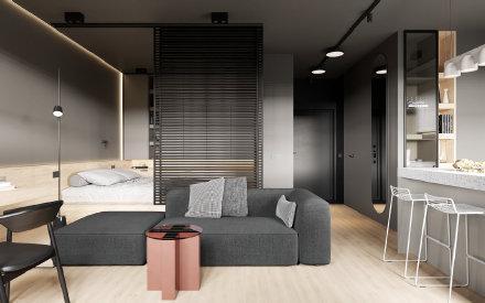38㎡单身公寓设计图