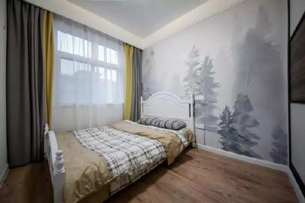 142㎡现代港式餐厅与卧室背景墙装修效果图