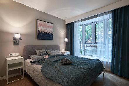 90平现代简约三居室装修效果图