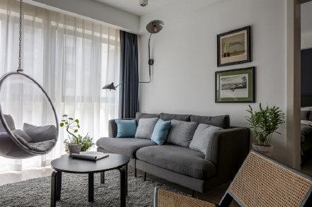 90平米北欧清新风两居室装修效果图
