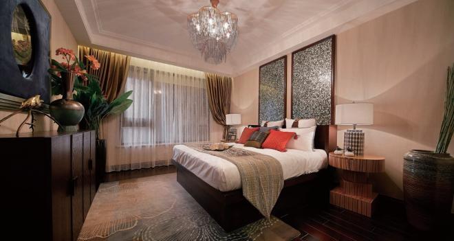 128平米东南亚风格室内装修效果图