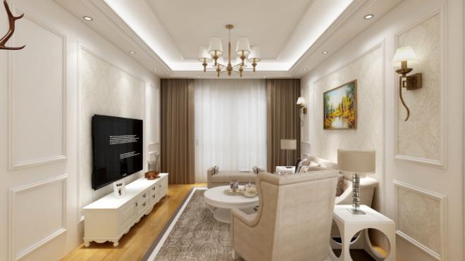 三居室105平米装潢效果图