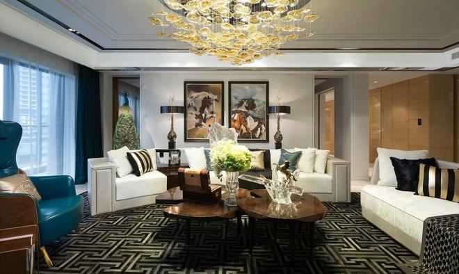 四居室法式风格家装设计图
