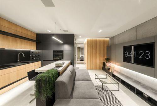 超现代感小公寓设计图
