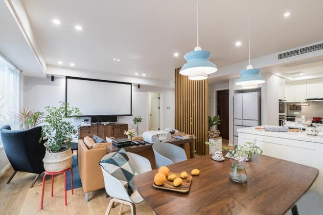 130平现代北欧风格装修客厅效果图