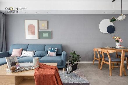 94㎡简约北欧风格二居室装修效果图