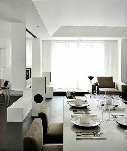时尚简约三居室装修效果图