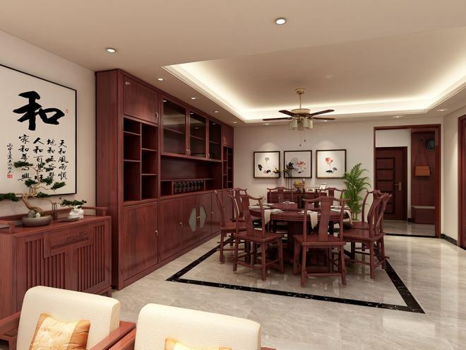 156平米四居室新中式风格装修效果图