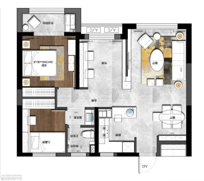 18万120平中式三房装修效果图