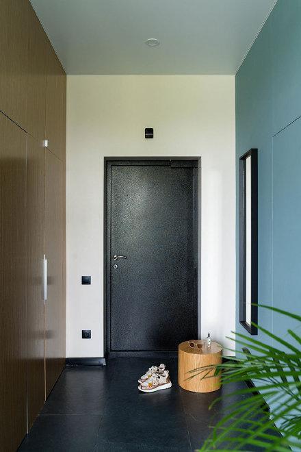 38㎡石墨色调时尚小公寓装修效果图