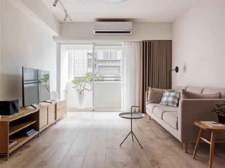 清新原木现代极简风三居室装修效果图