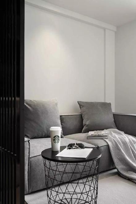 48㎡loft 黑白灰简约纯粹的设计装修效果图