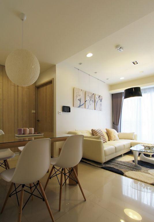 米色系房间效果装修设计图