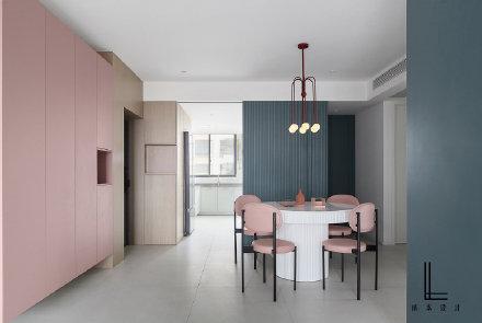 120平米现代简约三居室装修效果图