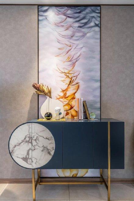 95平方现代轻奢样板房装修效果图