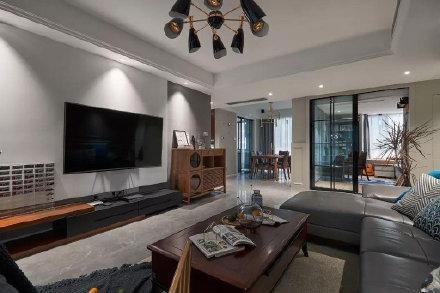 简约现代风格三居室装修效果图