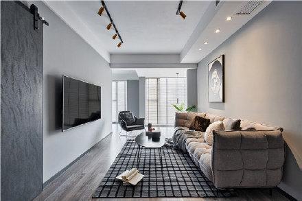 64㎡现代简约两居室装修效果图