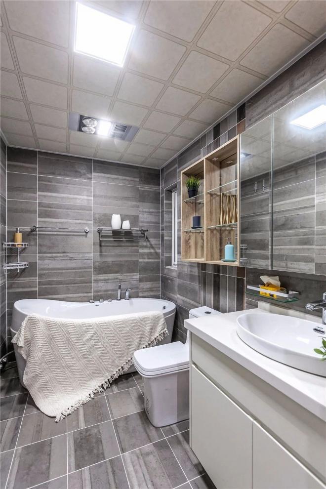 北京140㎡三居室原木风装修效果
