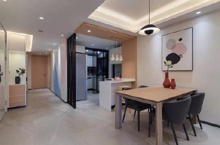 现代简约三室装修效果图