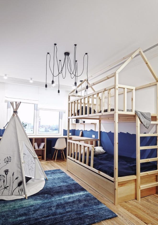 大连现代风儿童房装修效果图