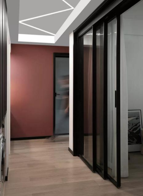深色系现代北欧风三居室装修效果图