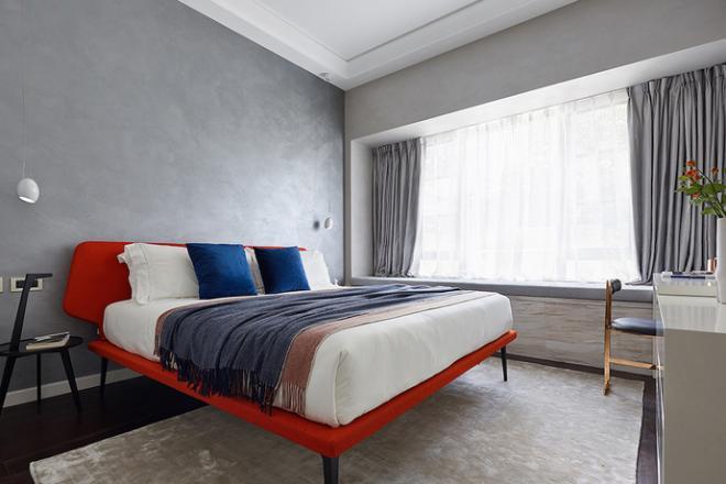 萍乡黑白风点缀明亮色调的卧室装修效果图