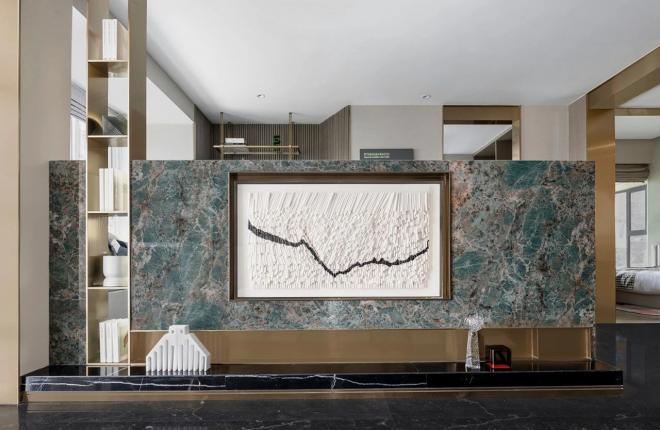 昆明两居室现代轻奢风装修效果图