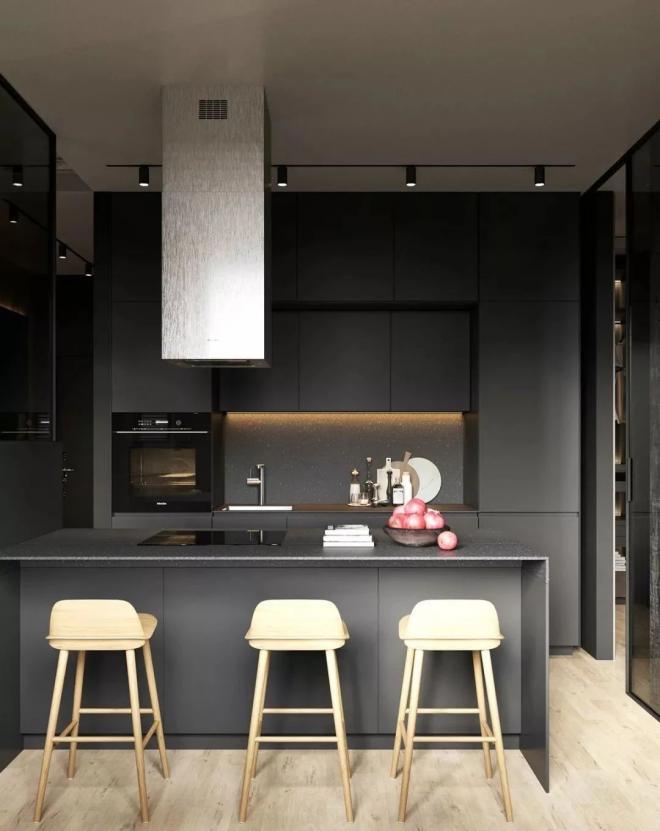 宝鸡公寓高级灰风格装修效果图