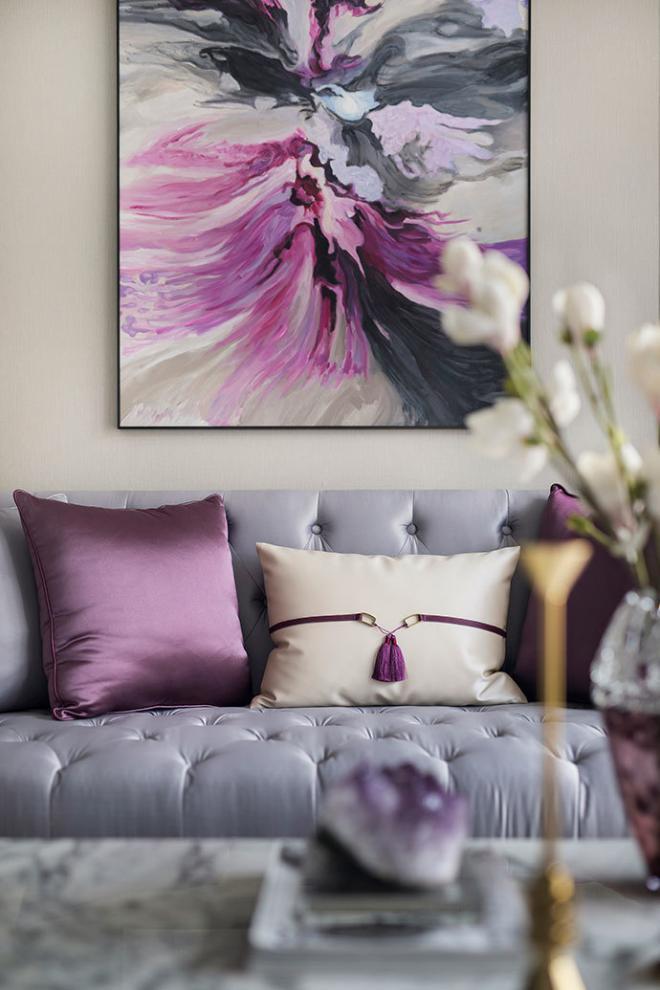 邢台法式紫调优雅风装修效果图