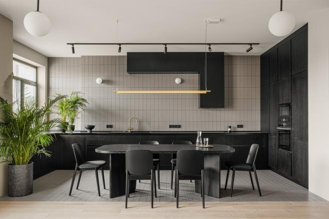 保定公寓黑色系简约风装修效果图