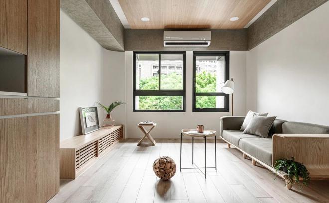 张家口公寓原木简约风装修效果图
