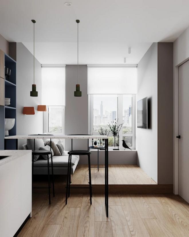 阳泉30平米单身公寓装修效果图