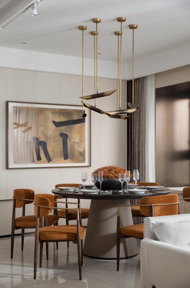 阳泉三居室现代轻奢风装修效果图
