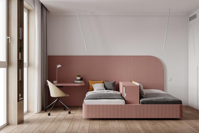晋中公寓现代极简风装修效果图