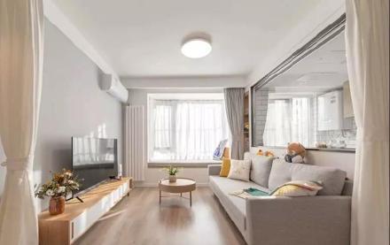 长沙55㎡简约风单身公寓装修效果图