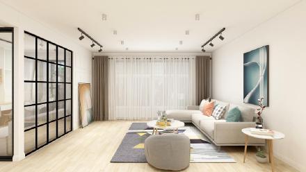 贵阳165㎡现代北欧三居室装修效果图