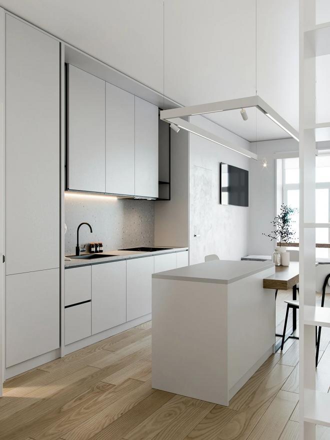 阜新小户型公寓白色系装修效果图