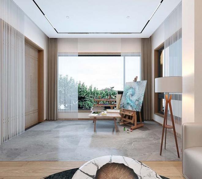 山别墅装修效果图新中式