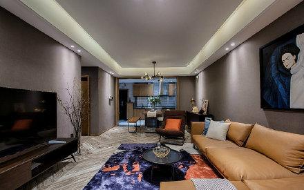 杭州80㎡咖色调现代简约风格家居设计图
