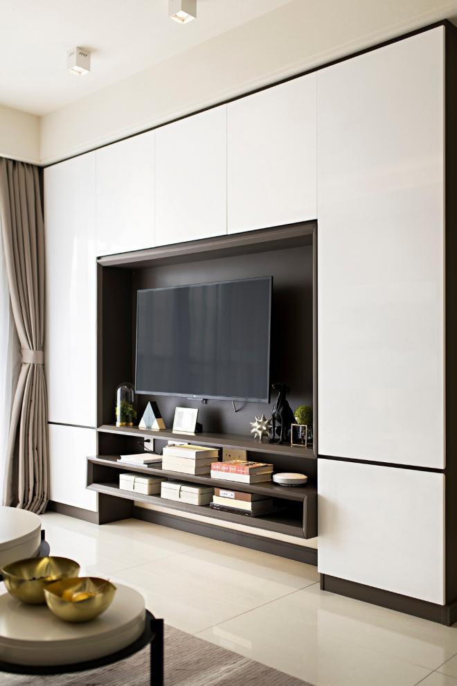 大庆89平米现代风三居室装修效果图