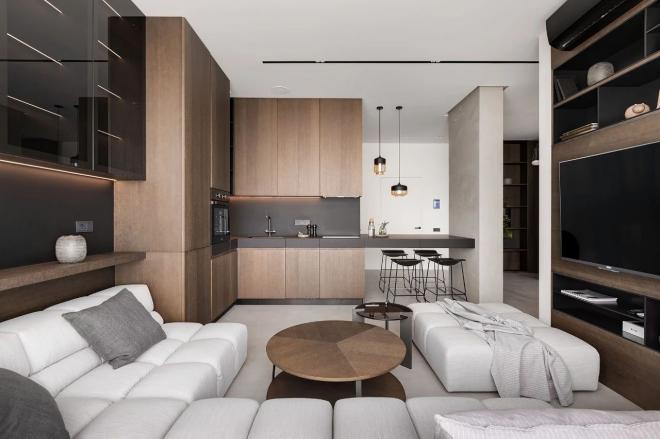 牡丹江公寓现代极简风装修效果图